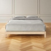 Simple Whitewash Bed Base Queen by CB2