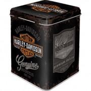 Cutie metal ceai Harley-Davidson - Genuine Logo