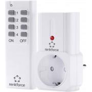 Set priză wireless şi telecomandă, interior, 433 MHz, Renkforce