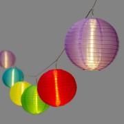 Luci Da Esterno Catena luminosa decorata, 8 m, 10 Lanterne Multicolor LED Bianco caldo, prolungabile