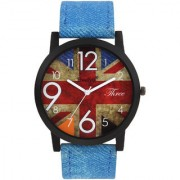 Evelyn Analogue Multi colour Dial Blue Strap Unisex Watches-Eve-665