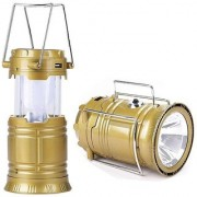 ND Brothers Rechargeable Solar LED Camping Lantern Flashlights for Outdoor Camping Multi Color