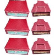 Afrose High Quality Combo of Parchute Plain 3PC Saree Cover 3PC Blouse Cover Capacity 10-15 Units Saree/Blouse Each(Maroon)