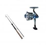 Set spinning lansetă 2.1 m 100% carbon Cool Angel Raizer și mulinetă Cool Angel YoYo 2000, putere aruncare 10-30 g