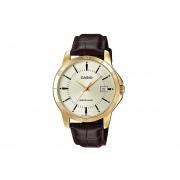 Reloj Casio MTP-V004GL-9A-Dorado Con Café