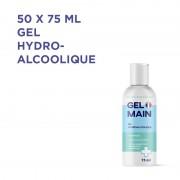LOT DE 50 - GEL HYDRO-ALCOOLIQUE 75ML