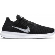 Nike Free Run Flyknit - scarpe running - uomo - Black/White