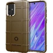Samsung Galaxy S20 Plus (S20+) hoesje, Rugged shield TPU case, Bruin - Telefoonhoesje geschikt voor: Samsung Galaxy S20 Plus
