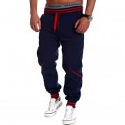 Pantalónes Desportes Con Bolsillo Para Hombre-Azul Oscuro