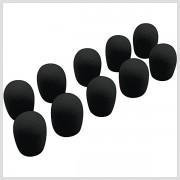 Čierna molitanová krytka ku kravatovému mikrofónu 1ks, Omnitronic