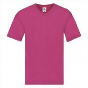 Fruit Of The Loom Basic heren t-shirt met V-hals roze