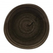 Churchill Super Vitrified Churchill Stonecast Patina Round Trace Plates Iron Black 186mm