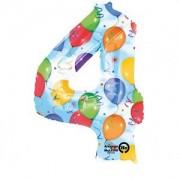 Balon folie Cifra 4 imprimat baloane 66 * 88 cm
