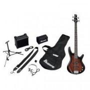 Ibanez IJSR190-WNS Jumpstart - Walnut Sunburst - kit con amplificador, auriculares y soporte