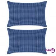 vidaXL Set Jastuka 2 kom od Velura 40x60 cm Plavi