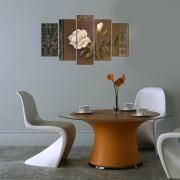 Tablou decorativ multicanvas Charm, 5 Piese, Trandafir, 223CHR2928, Multicolor