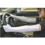 Full Hand Skin Gloves for Women-Set of 1 white