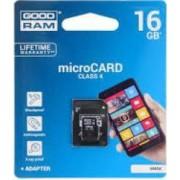 Card memorie 16GB Goodram MicroSD clasa 4 Adapter M40A-0160R11