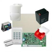 Kit alarma la efractie DSC cu sirena interioara KIT1404INT-OPT