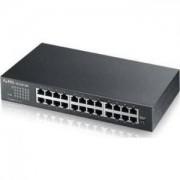 суич ZyXEL GS1100-24E Switch 24 портов 10/100/1000, 19' rackmount - ZYXEL-GS1100-24E