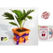 ES TABLE PALM GREEN With Gift Anniversary Gift Mug