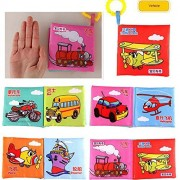6pcs/set Soft Squeaky Waterproof English Baby Cloth Book Development Infant Cloth Books Learning Educational Toys...