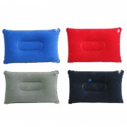 New Portable Folding Air Inflatable Pillow Double Sided Flocking Cushion For Outdoor Travel Plane Hotel
