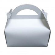 Cutii Albe pentru Prajituri, 14x20 cm, 25 Buc/Bax, Carton Duplex - Ambalaje Patiserie