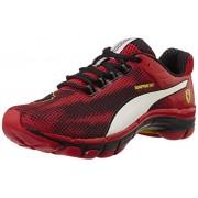 Puma Men's Mobium Elite Speed Ferrari Red-White-Black- Yellow Running Shoes - 8 UK/India (42 EU)