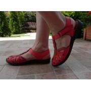 Sandale femei, Anna Viotti, model 2517, piele naturala, bej