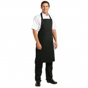 Whites Chefs Clothing Whites halterschort zwart