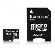 Card Transcend microSDHC 16GB UHS1 cu adaptor SD