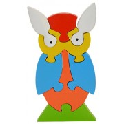 Skillofun Wooden Take Apart Puzzle Owl, Multi Color