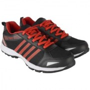 Port Men's Red Mesh Running Sports Shoes