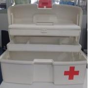 Maleta para Primeiros Socorros SOS com 2 Bandejas Articuladas Polymer