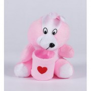 CUTE PINK SOFT FABRIC WOLF(VALENTINES GIFT)(ASSORTED COLOUR)