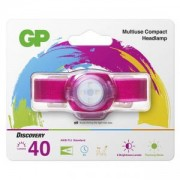 Фенер - челник GP BATTERIES CH31, LED KIDS /детски/ 40 лумена, розов, GP-F-KIDS-CH31-PURPLE