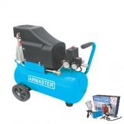 Compresor de aer AIRMASTER AIR2SHU824-AIR-70S, 230 V, 1.5 kW, 206 l/min, 8 bar, 24 l