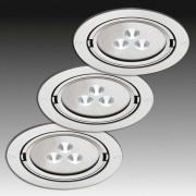 HERA ARF 78-LED recessed light set, set of three