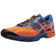 Asics Men's Gel Noosa Tri Hot Orange, Hot Orange and Electric Blue Mesh Running Shoes - 6 UK