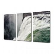 Tablou Canvas Premium Peisaj Multicolor Cascada uriasa vazuta de sus Decoratiuni Moderne pentru Casa 3 x 70 x 100 cm