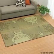 紋織いぐさラグ/トトロ柄176×176cm(裏貼り加工) 池彦 ファブリック 【ライトアップショッピングクラブ】