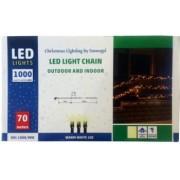 Instalatie de lumini de exterior cu 1000 LED-uri Home KKL 1000C/WH Lungime 70 m IP44 230V lumina rece