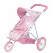 Baby Annabell - Carucior Cu 3 Roti include copertina pliabila spatiu de depozitare si centura de siguranta