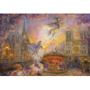 Puzzle Grafika Kids - Josephine Wall: Magical Merry Go Round, 100 piese (59304)