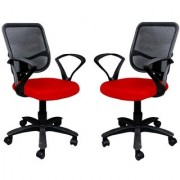 Earthwood -Buy 1 Office Chair Get 1 Free in Red