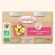 Babybio Petits Pots Fruits Pomme d'Aquitaine et Coing - 2 x 130g - Babybio