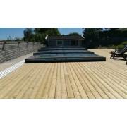 Pooltak Flat Kanalplast Antracit 4,60 x 8,60 m 4 sektioner Vippgavel (+3500 kr)