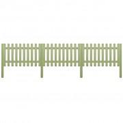 vidaXL Gard din țăruși, lemn de pin tratat, 5,1 m 150 cm 6/9cm