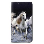 RW0246 White Horse PU Leather Flip Case Cover for Samsung Galaxy A10